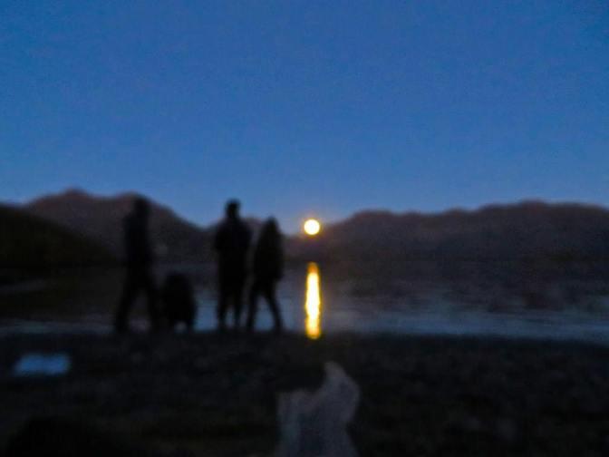Moonrise over Canal Williams, Achipelago de Chonos, Chile