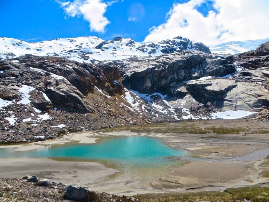 Glacial Pool, near Cerro San Lorenzo, Chile