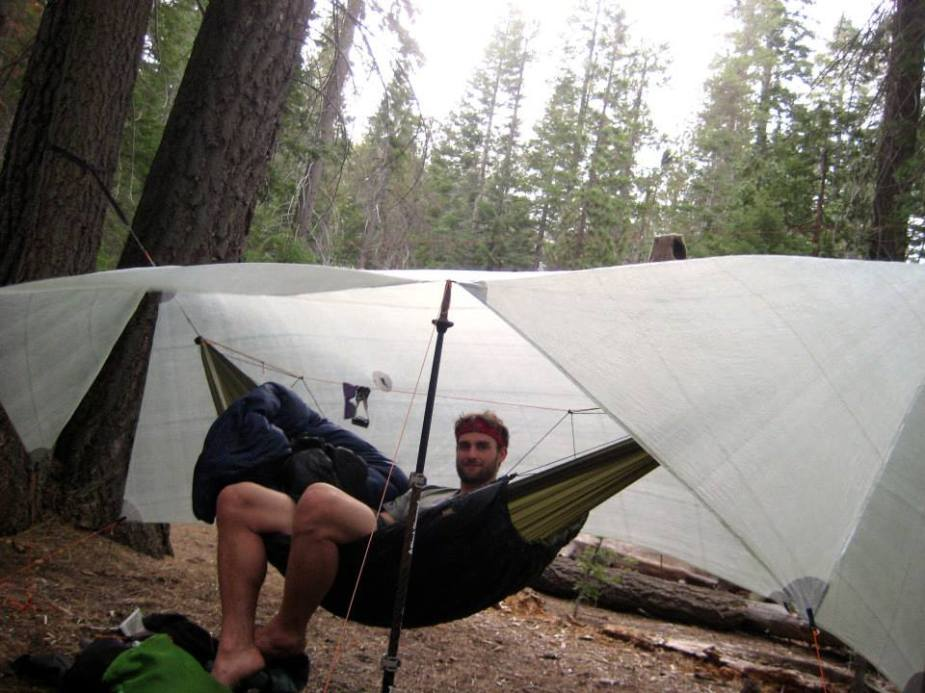 Relaxing in the hammock in Little Yosemite Valley