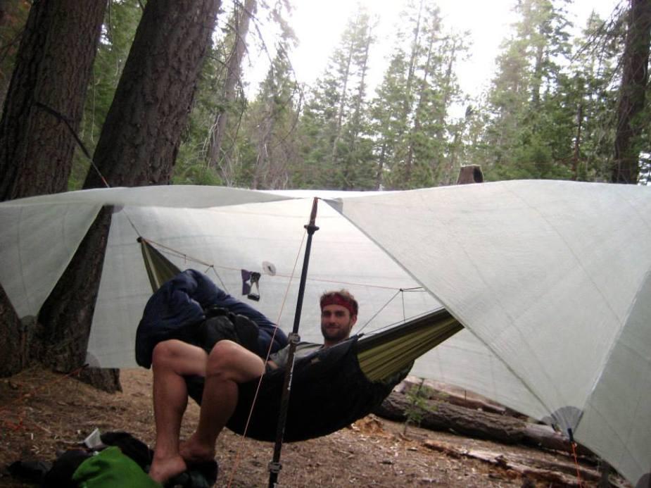 Relaxing in the hammock in Little Yosemite Valley