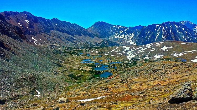Looking back from atop Pinchot Pass