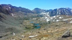 Atop Pinchot Pass looking backwards at the trail.