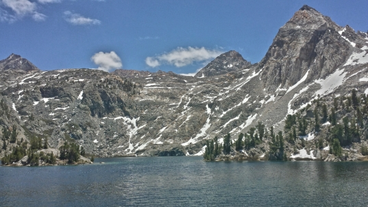 Epic Rae Lakes under Glen Pass. We had it all to ourselves for some time.