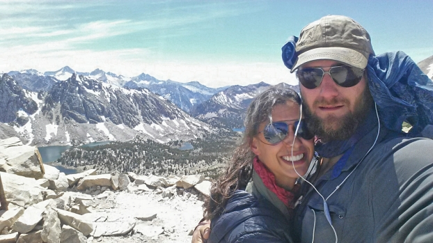 Power Couple on top of Kearsarge pass.
