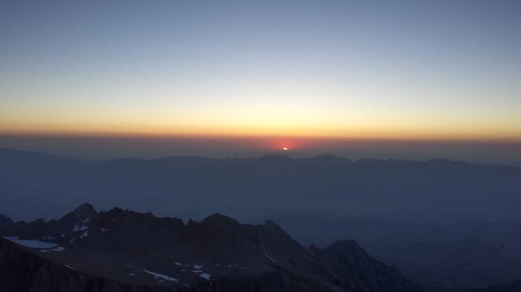 Sunrise on Mt. Whitney