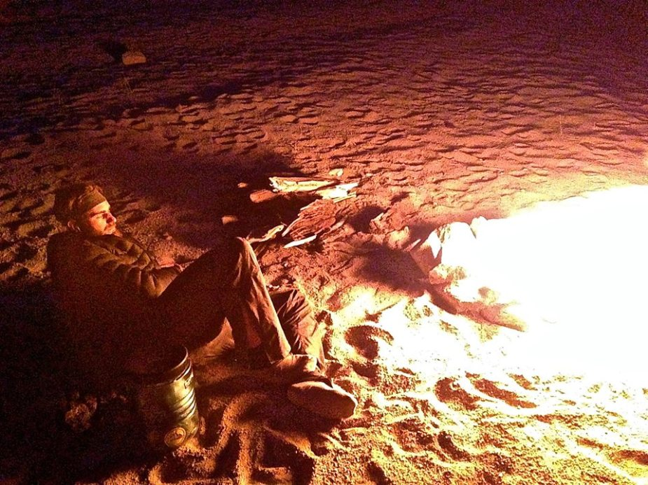 Resting near the fire with the Cerium LT Hoody