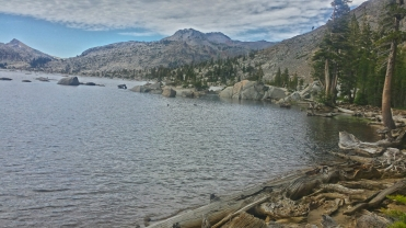 The trail along Aloha Lake on the Pacific Crest Trail