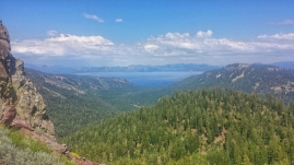 Lake Tahoe from the trail. For a few days, the massive lake is always somewhere in sight.