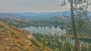 Deer Lake from a ridge on the PCT.