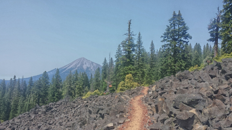 The distinct volcanic characteristics of the Cascades are seen in southern Oregon.
