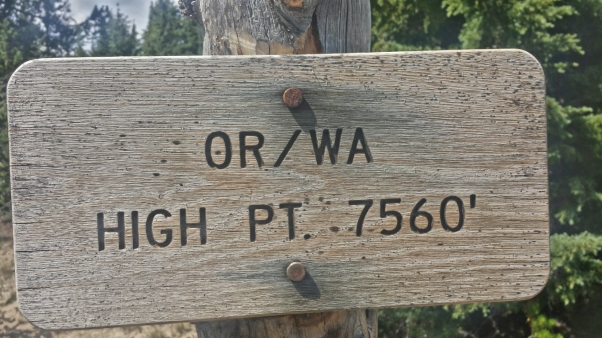 Not the literal high point (If you take the PCT route around Crater Lake)