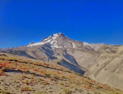 Mt. Hood near Timberline Lodge, approaching the end of Oregon.
