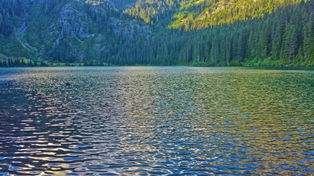 Deep Lake, about 30+ miles from the Steven's Pass (Skykomish) Resupply. It was one of most favorite campsites on the entire PCT. The water was an amazing shade of torquoise, and there was a perfect site right on the lake edge. This was my view.