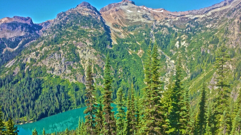 Looking down at Deep Lake