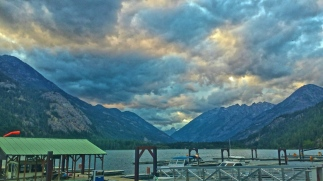 A View from Stehekin, Washington. This town is so cool, but a bit eery. Like something out of a Steven King novel, there are only two ways out of the town, walking over the treacherous mountains, or taking a ferry 55 miles to the town of Chelan via the lake. Throw in that there is only one working phone for the community and you have got yourself a horror story.