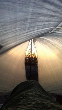Sleeping in the tarp