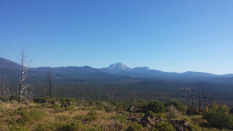 Looking Back at Mt. Lassen from the beginning of the Hat Creek Rim.