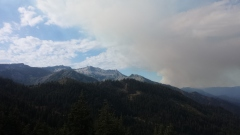 More fires in the distance as I make my way north towards Seaid Valley on the PCT