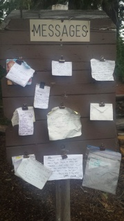 Message Board on the PCT.