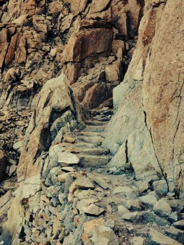 Granite steps up Mt. Whitney (CRED: Nicole Frias)