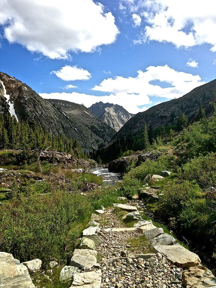 After Forrester Pass, the trail descends into Kings Canyon. To this day, I have never had a more enjoyable hiking day in my entire life. A well constructed path. (CRED: Nicole Frias)