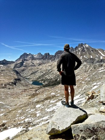 On Mather Pass looking towards the next bit of land to be conquered. (CRED: Nicole Frias)