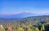 Mount Shasta on the horizon for many days. But it seems to be getting closer and close.
