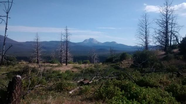 Approaching Lassen Park and Mt. Lassen.