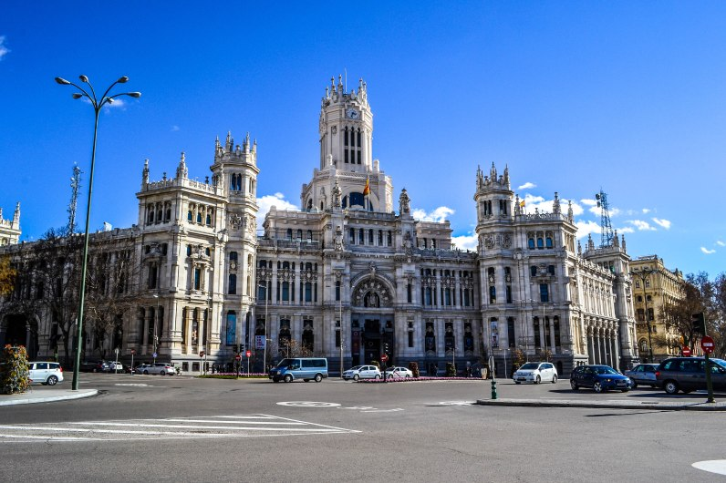 Here is the Palacio de Comunicaciones. A beautiful building on Gran Viía.