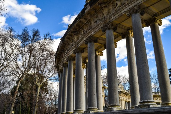 Parque del Retiro boasts a large ampitheater surrounding a small body of water where you can enjoy a boat ride.