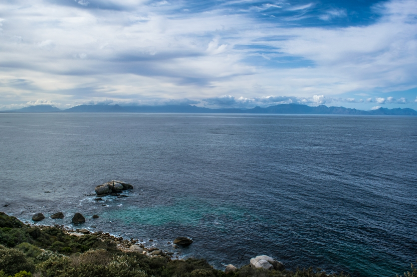 Looking across False Bay from Cape Point National Park.