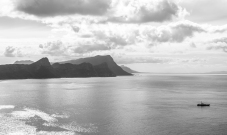Looking back at the peninsula from the point of Cape Point.