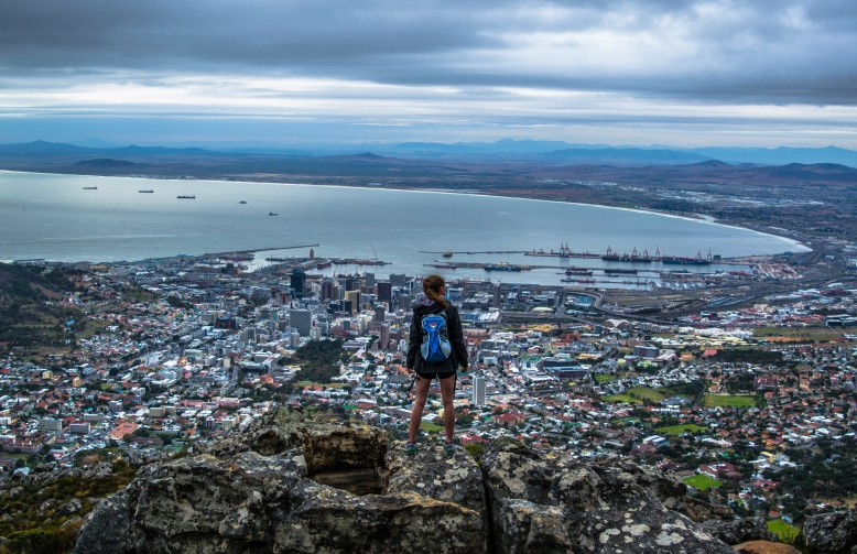 There are a few ways to get to the top of Table Mountain, but only one lets you earn this view; The India Venster Route.