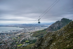 Continuing up the India Venster route of Table Mountain. As we climbed, we gained a bit of celebrity, being the only two people climbing the mountain instead of being ferried up it.