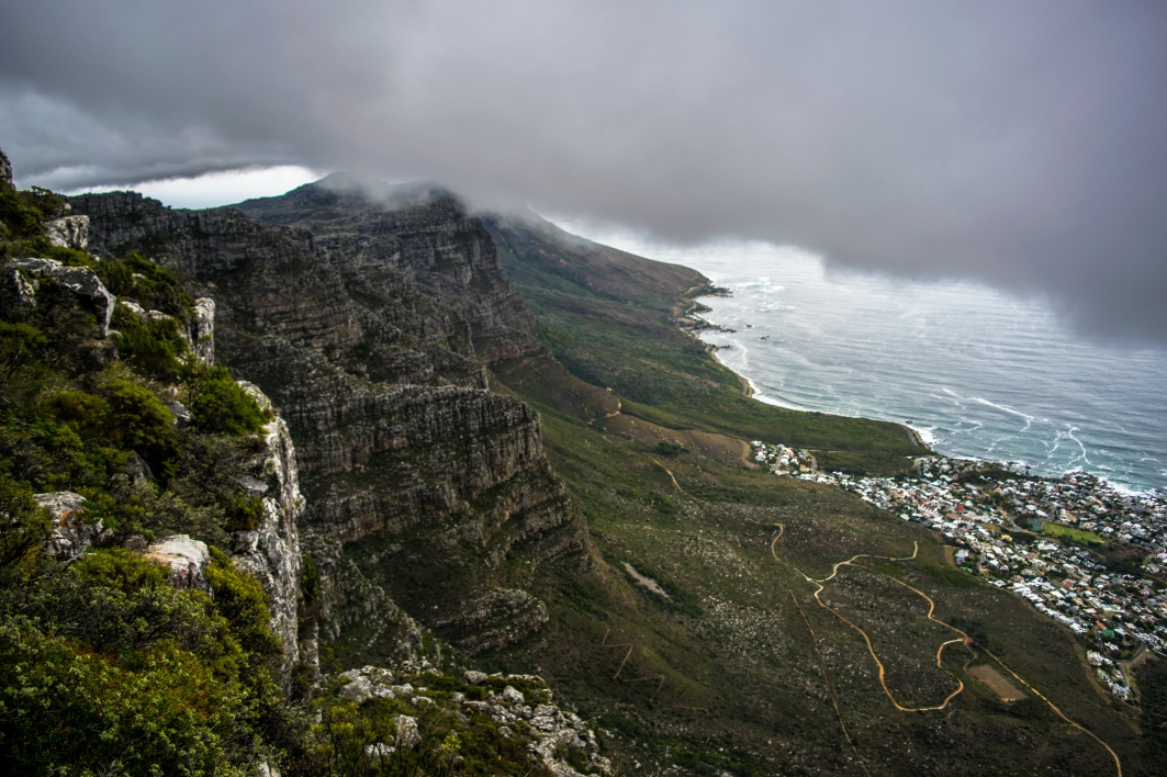 Near the end of the India Venster Route on Table Mountain.