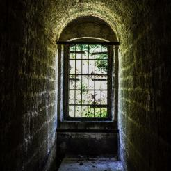 11. Looking out through one of the fortress' barred window. (CRED: Nicole Frias)