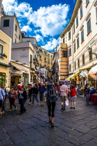 Crowds in Amalfi