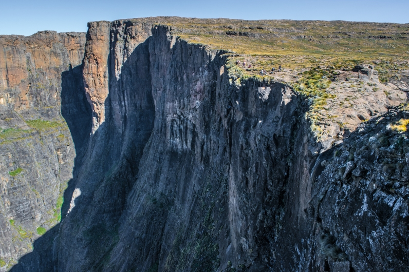 The Amphitheater Wall. Normally, the second tallest waterfall in the world, Tugela Falls, falls off this face. At the end of the summer, it was running dry.
