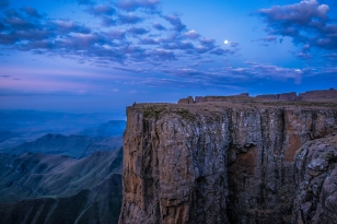 Sunset on the Drakensberg. This was taken from my campsite for a night.