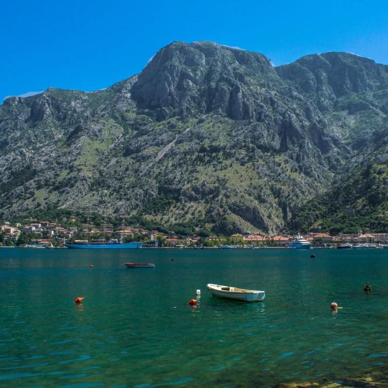 1. The walk from Kotor's Old Town to the Vrmac Trail Head is about 12 minutes long, and hugs the shore of the bay.