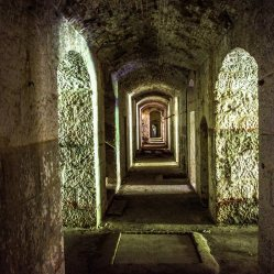 10. Inside the fortress there is no light but the scattered bits that come in through the windows and cracks. Beware of bats (RABIES IS NO JOKE), and holes in the floor. Most of the holes have a plank of wood you can walk across if you're brave!