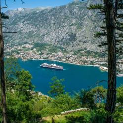 8. Looking down at the Bay of Kotor from the path.