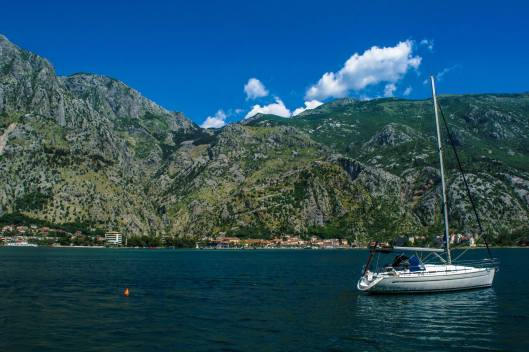 Looking at Kotor across the water.