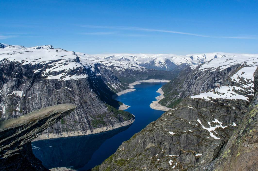 The Trolltunga Ledge all by itself.