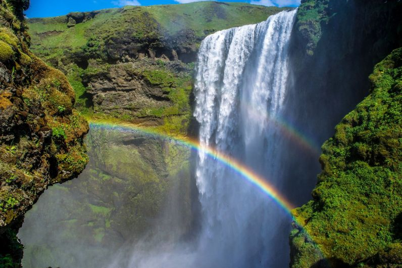 Skogafoss double rainbow.