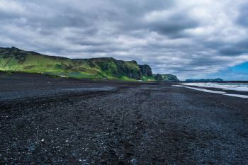 The black sand beaches of Vik, Iceland.
