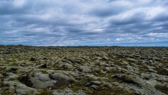 Stretches of lava rock desert like this can go on forever in Iceland.