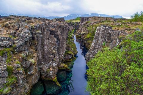 The Silfra Rift. The cleanest water on Earth.