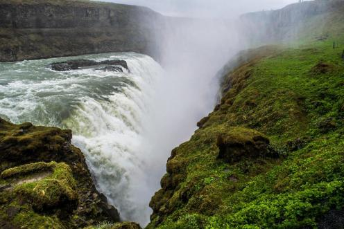 Gullfoss Waterfall is so powerful.