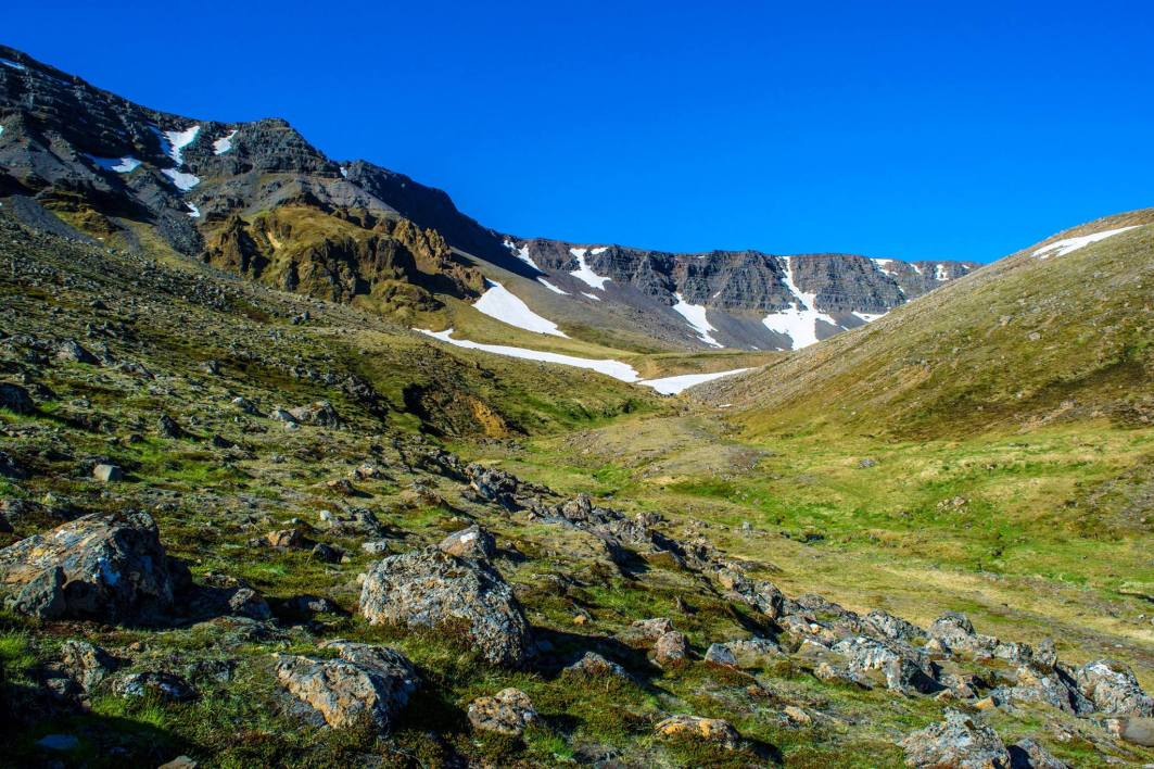 Hiking in Iceland, on the Esja Trail.